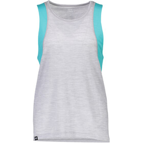 Mons Royale W's Kasey Relaxed Mesh Tank Tropicana/Grey Marl